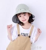 兒童空頂帽子女童夏防曬遮陽帽折疊大檐沙灘帽出游太陽帽 蓓娜衣都