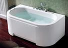 【麗室衛浴】BATHTUB WORLD H-077  壓克力長方D型造型浴缸 150*80CM