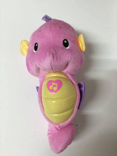 【全新無外盒】粉色 Fisher Price☆費雪小海馬 安撫海馬 聲光海馬-超級BABY