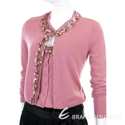 BLUGIRL 粉紅色亮片花朵飾邊二件式上衣 0550069-05