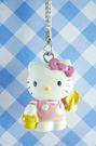 【震撼精品百貨】Hello Kitty 凱蒂貓~KITTY手機吊飾-KITTY種花造型-粉色