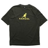KANGOL 短袖 短T 軍綠 短袖 胸口 大LOGO 袋鼠 棉 男 (布魯克林) 6021101570