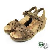 【Panama Jack】Vera蛇紋楔形涼鞋 淺棕色 (PSW48-TAU)