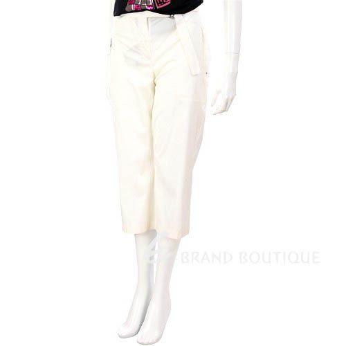 MARELLA 白色後口袋設計八分褲 0520853-20