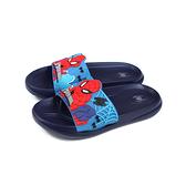 MARVEL 漫威 蜘蛛人 拖鞋 戶外 藍色 中童 童鞋 MNKS99016 no717