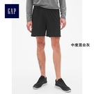 GapFit男裝 干爽鬆緊腰跑步短褲 395743-純正黑色