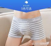 男士內褲男平角褲純棉透氣青年個性男生短褲頭四角底褲衩潮    琉璃美衣
