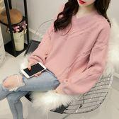 打底針織衫女2018早春韓版寬鬆慵懶風套頭