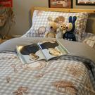 男孩的野餐墊 Q2加大床包雙人薄被套4件組  四季磨毛布 北歐風 台灣製造 棉床本舖