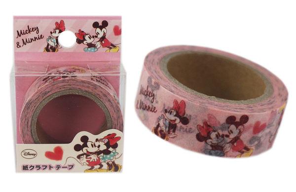 【卡漫城】Mickey Mouse 膠帶式 筆記 貼紙 ㊣版 紙膠帶 裝飾 包裝 Minnie 米妮 米奇 日本