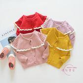 嬰兒外套 新品春秋裝正韓女寶寶毛衣開衫女童針織衫嬰兒童外套 七夕情人節