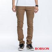 BOBSON 男款貼袋伸縮直筒褲(1769-72)