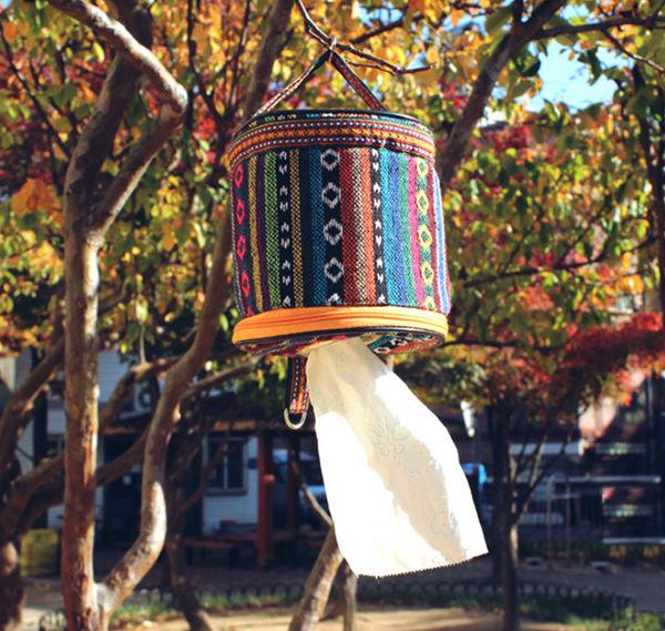 【樂youyou】民族風-面紙盒(方便抽取) 紙巾盒/掛式面紙盒/滾筒式紙巾