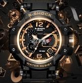 戶外手錶 軍錶雙顯手錶軍迷男特種兵運動戶外美國戰術多功能潛水電子夜光錶 伊芙莎