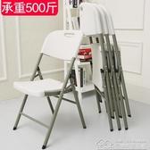 摺疊椅家用餐椅休閒椅便攜塑料椅會議培訓辦公電腦椅凳子靠背椅子  居樂坊生活館YYJ