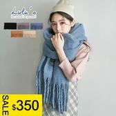 LULUS特價-Y素面螺旋鬚鬚圍巾-5色  現+預【08050290】