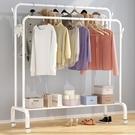 晾衣桿室內折疊衣服落地臥室家用曬衣架收納...