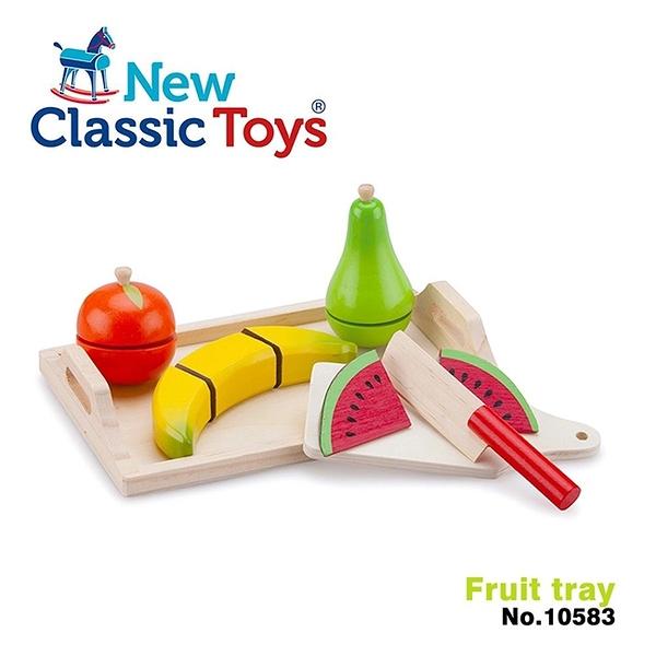 【荷蘭 New Classic Toys】水果托盤切切樂 10583