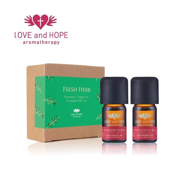 【Orient Retreat登琪爾】愛與希望LOVE&HOPE 清新草本禮盒組Fresh Herb (藍膠尤加利+桉油醇迷迭香)