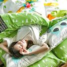 床包兩用被組 / 雙人加大【遇見朵朵-兩色可選】含兩枕套,鋪棉兩用被套,100%精梳棉,戀家小舖