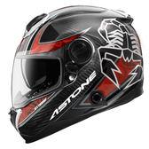【東門城】ASTONE GT1000F AC9 蠍子(碳纖/紅) 全罩式安全帽 雙鏡片