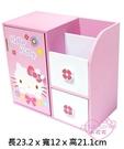 ♥小花花日本精品♥ Hello kitty凱蒂貓桌上型多功能收納盒 衛生紙收納置物 居家實用書桌12043408