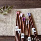 文藝日本個性尖頭明禪子扁頭美甲指甲筷子 送人禮品筷實木『CR水晶鞋坊』