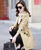 春秋季新款女裝韓版修身小個子風衣女大碼中長款