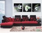 【優樂】無框畫裝飾畫家居沙發背景裝飾客廳臥室掛畫墻壁畫三聯枝頭白花