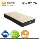 【輕品巧室-綠的傢俱集團】Meng Ton系列床墊A1支撐型-單人標準(防蟎抗菌表布)