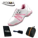 高爾夫球鞋 兒童運動鞋子女童運動鞋防水旋轉扣鞋 GSH127WPNK