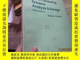 二手書博民逛書店data罕見processing systems analysi