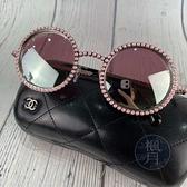 BRAND楓月 CHANEL 香奈兒 粉色珠珠圓框墨鏡 造型眼鏡 太陽眼鏡 穿著搭配