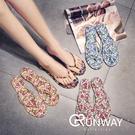 【R】韓國 新款 碎花 花花小清新 甜美 質感 女鞋 人字拖 拖鞋 涼鞋 休閒鞋 沙灘拖鞋