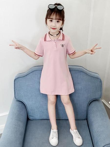 女童連身裙洋裝夏裝新款純棉洋氣網紅7兒童裝8小女孩休閒裙子10歲