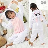 冬季兒童連體睡衣動物長袖加厚男女法蘭絨大灰狼家居演出服   艾美時尚衣櫥