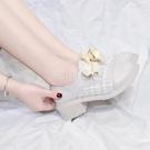 小皮鞋女英倫學院風2020春秋新款百搭小香風女鞋復古粗跟單鞋高跟 喵小姐