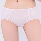 思薇爾-牛奶紗系列M-XL素面中低腰平口內褲(柔粉色)