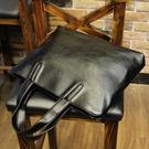 男包 韓版潮流男士手提包休閒側背斜背包電腦商務公文包皮質 黛尼時尚精品