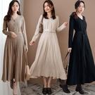 現貨-MIUSTAR 包布排釦立體坑條裙...