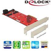 【Delock】M.2 NGFF SSD x3 PCI express擴充卡89394