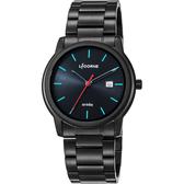LICORNE力抗 entrée 品味生活時尚手錶-黑x藍時標/41mm LT120MBBI-N