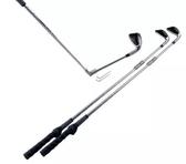 高爾夫球桿折彎教練桿 揮桿姿勢輔助矯正訓練 7#七號鐵折合練習桿