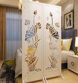 屏風隔斷牆扇折屏玄關臥室時尚客廳現代簡約酒店中式移動折屏座屏(一片180*60公分)