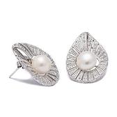 耳環 925純銀鑲鑽-時尚葉子生日情人節禮物女飾品73dm193【時尚巴黎】
