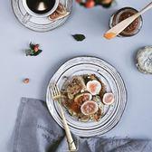 除舊佈新 駝背雨奶奶盤子日式陶瓷餐具創意牛排盤家用早餐盤餐盤菜盤格雷