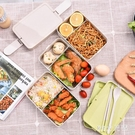 可微波爐三層保溫日式飯盒便當盒學生帶蓋韓版分格飯餐盒 QG3772『M&G大尺碼』