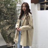 風衣外套 新款韓版BF寬鬆百搭中長款上衣原宿風長袖風衣外套女春秋學生 唯伊時尚