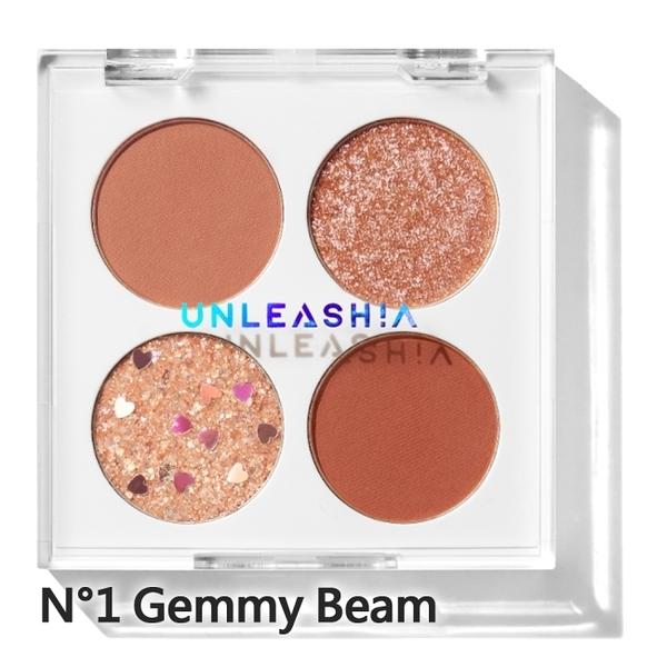 Unleashia 顏礫星涯-寶石多功能四宮格眼影盤6.2g N°1 Gemmy Beam