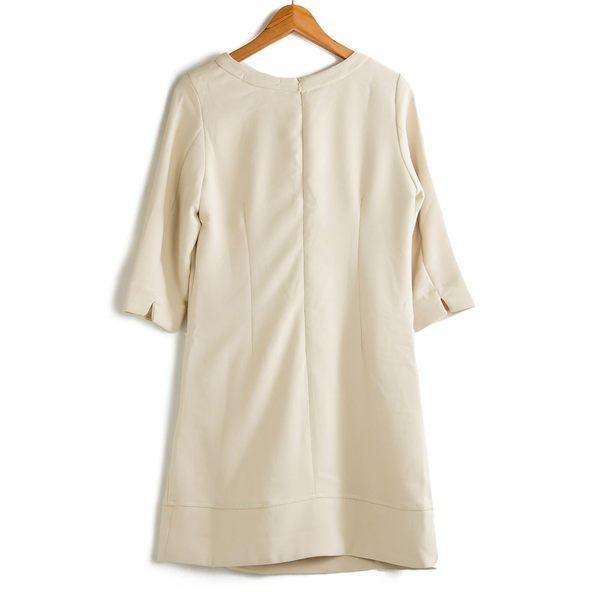 【MASTINA】典雅款造型洋裝-杏  秋裝限定嚴選